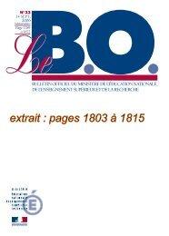 B.O. n°33 du 14 septembre 2006 - Risques Majeurs et Environnement