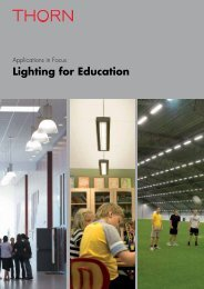 Lighting for Education - THORN Lighting