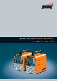 MIG/MAG PULSE WELDING PANTHER 200 PULS - Rehm