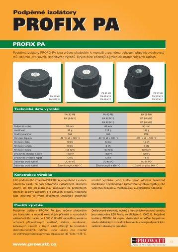 Katalog výrobku PROFIX PA - Prowatt