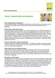 Portrait -; Barbara Soritz aus Unterfresen