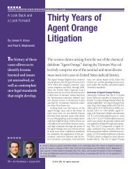 Thirty Years of Agent Orange Litigation - DRI Today