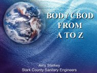 BOD / CBOD FROM A TO Z - Ohio Water Environment Association