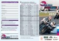Programme 2012 Programme 2012 - Rehm Race Days