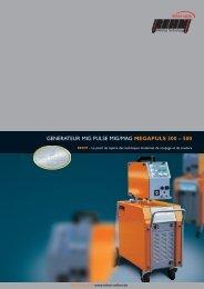 GENERATEUR MIG PULSE MIG/MAG MEGAPULS 300 – 500 - Rehm