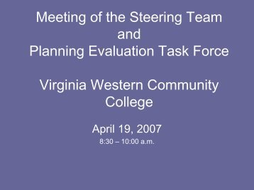 PowerPoint - Virginia Western Community College