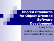 Shared Standards for Object-Oriente - Information Services and ...