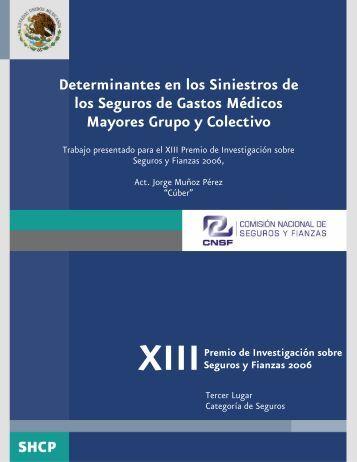 Determinantes en los Siniestros de los Seguros de Gastos ... - CNSF