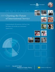 Charting the Future of International Service - Gerald R. Ford School ...