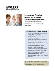 Interagency Guideline on Opioid Dosing for Chronic Non-cancer Pain