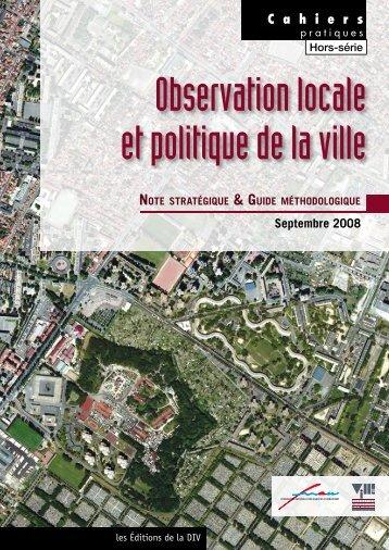 Observation locale et politique de la ville - I-Ville - Délégation ...