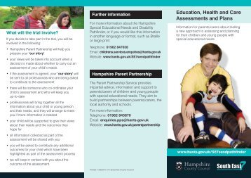 parent leaflet - Hampshire County Council