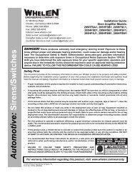 13379: 295HFS( )1-series Siren Amplifier - Busch & Associates