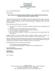 National Spot Exchange Limited Circular Ref. No.: NSEL/GEN/2010 ...
