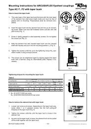 Mounting instructions for ARCUSAFLEX flywheel couplings Type AC ...
