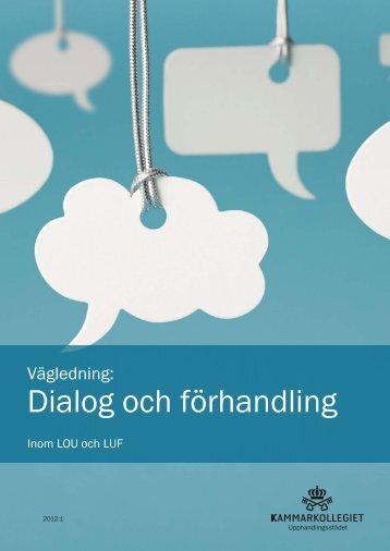 Dialog och förhandling i offentlig upphandling - Upphandlingsstöd.se
