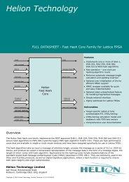 Fast Hash SHA-1, SHA-256, SHA-384, SHA-512, MD5 Lattice FPGA ...