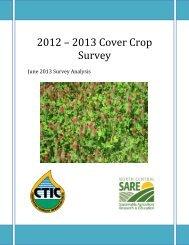 2012 – 2013 Cover Crop Survey - Conservation Technology ...
