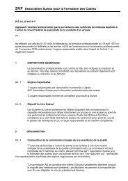 Règlement examen fédéral - Avenir Formation