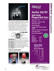 Triac Series 90 Flanged Ball Valve - PEC-KC.com