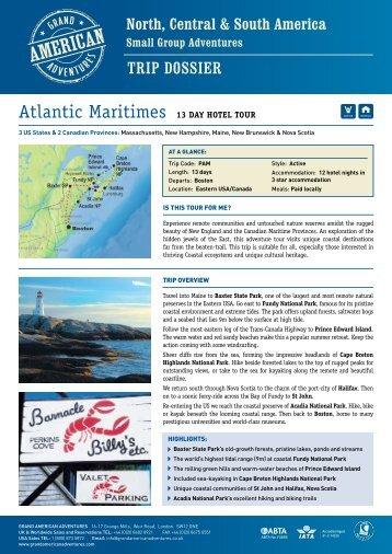 Atlantic Maritimes 12 DAy HotEl tour - Adventure Holidays & Activity ...