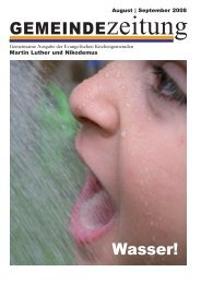 Ausgabe August/September 2008 - Martin-Luther-Kirche