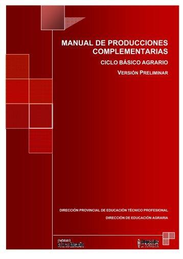 MANUAL DE PRODUCCIONES COMPLEMENTARIAS