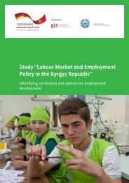 Labour Market and Employment Policy in the ... - AHK Zentralasien