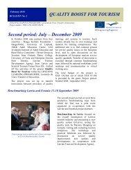 quality boost for tourism - Latvian Tourism Development Agency