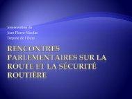 Rencontres parlementaires sur la Route et la Sécurité Routière