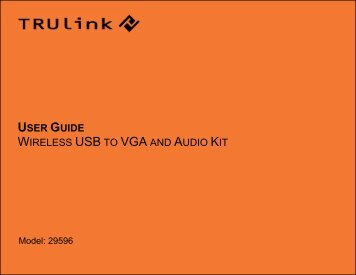user guide wireless usb to vga and audio kit - Cables To Go