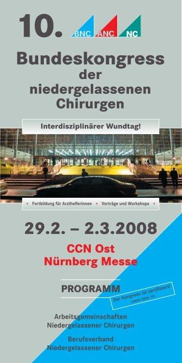 Bundeskongress - Berufsverband Niedergelassener Chirurgen
