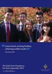 Sixth Form - Trinity School