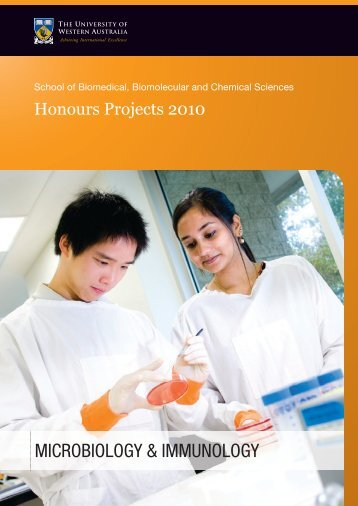 Microbiology & Immunology Honours Project Booklet 2010