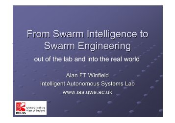 From Swarm Intelligence to Swarm Engineering - EPFL