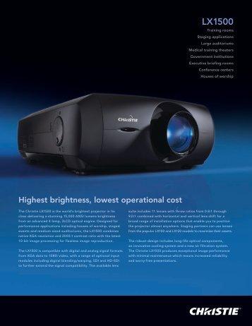 LX1500 - Christie Digital Systems