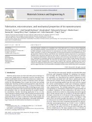 Fabrication, microstructure, and mechanical properties of tin ...