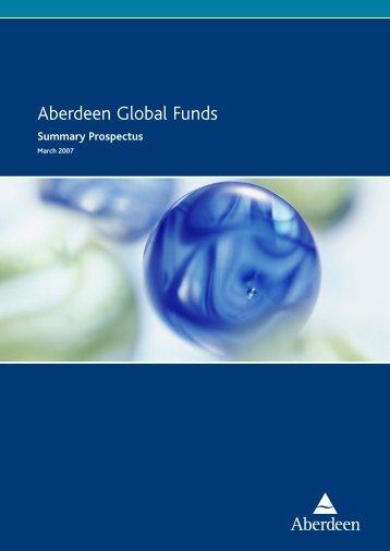 Aberdeen Global Funds - Aberdeen Asset Management