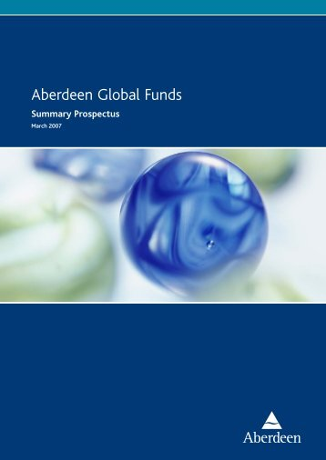 Aberdeen Global Funds - Aberdeen Asset Management