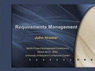 Requirements Management Requirements Management - NASA