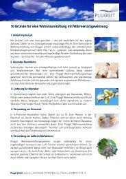 10 Gründe für eine Wohnraumlüftung - Pluggit