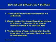TEN ISSUES FROM GEN X FORUM - Leadership Network