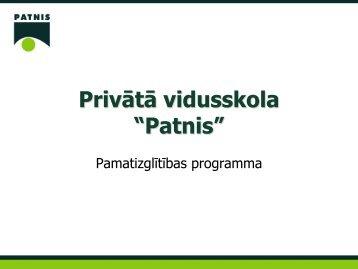 Programmas prezentācija - Patnis