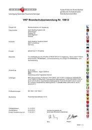 VKF Brandschutzanwendung Nr. 18612 - Wicona.ch