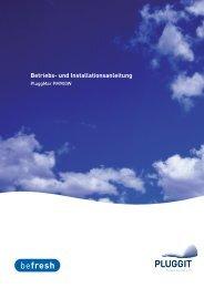 Betriebs- und Installationsanleitung - Pluggit