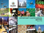 opportunity austin annual meeting - The Greater Austin Chamber of ...