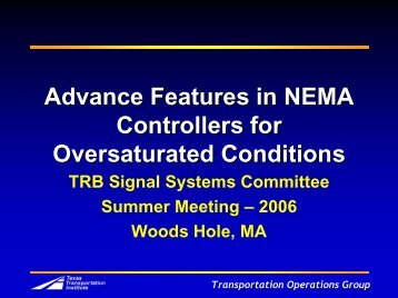 Transportation Operations Group - Traffic Signal Systems Committee