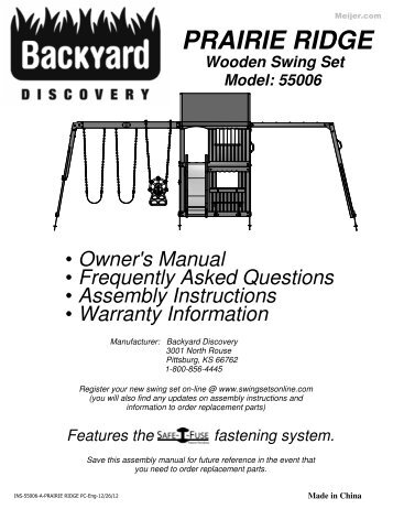 Verona swing set owners manual and assembly instep owners manual play set meijer publicscrutiny Choice Image