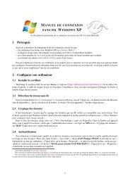 Windows XP - VIA Centrale Réseaux