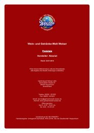 Preisliste für Hersteller: Absolut - und Getränke-Welt Weiser